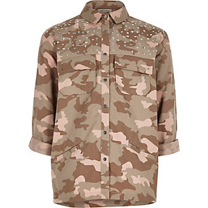 Heatseal-Hemdjacke mit Camouflage-Muster