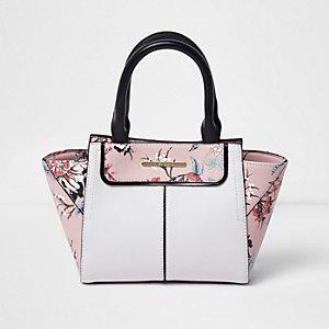 Girls pink western winged tote bag