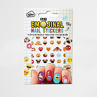 Girls Emoji nail stickers
