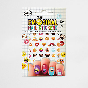 Girls Emoji nail stickers