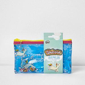 Girls unicorn pencil case
