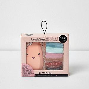 Girls pink Sweet Peach hair care kit
