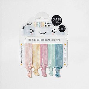 Girls Oh K ribbon hair ties