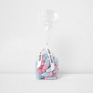 Pink-blaue Süßigkeiten