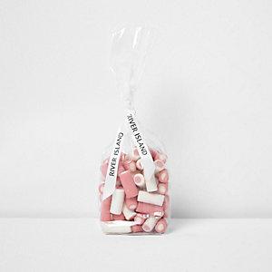 Bonbons fraises à la crème roses