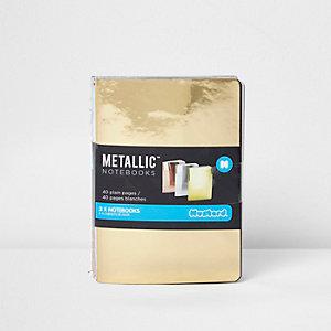 Girls metallic notebook pack