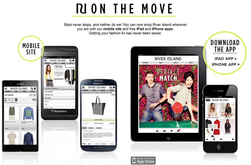 Get your River Island fix on the go with our iPhone & iPad App available now!
