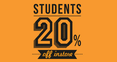 CALLING ALL STUDENTS 20% OFF THURS-FRI