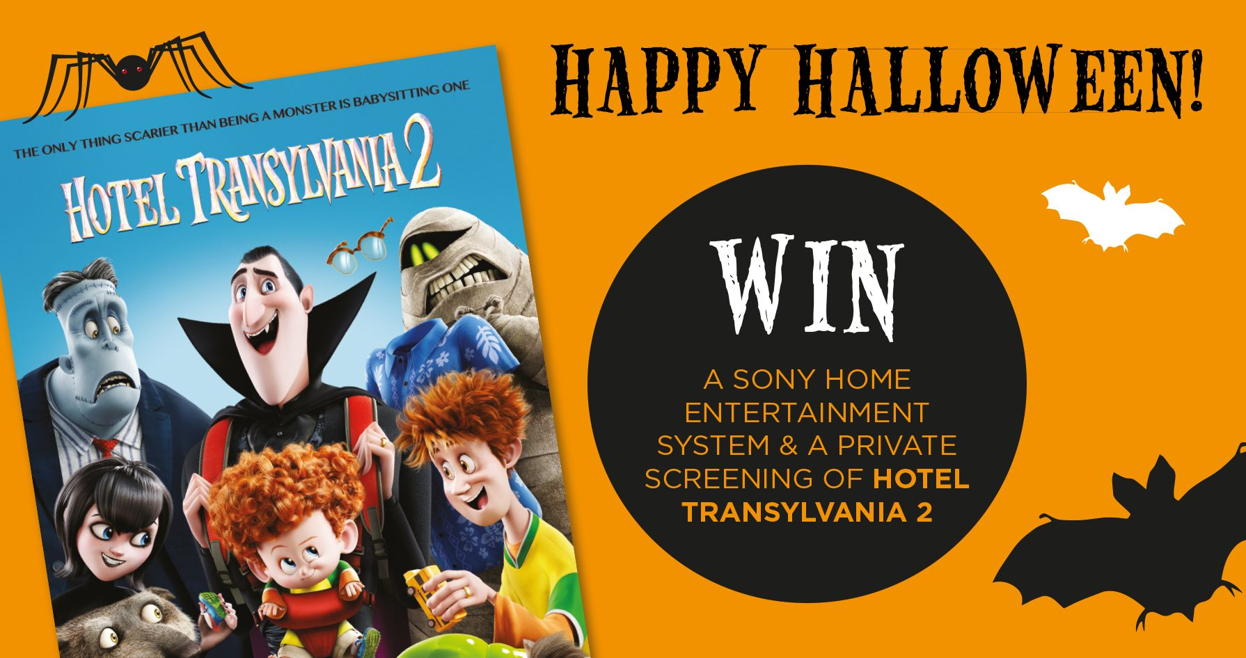 WIN A SONY HOME ENTERTAINMENT SYSTEM WITH HOTEL TRANSYLVANIA 2
