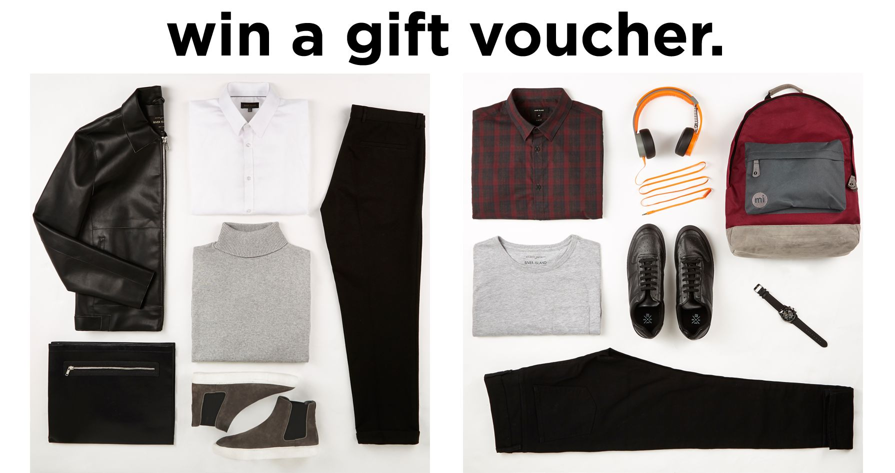 WIN A GIFT VOUCHER WITH OUR MENSWEAR OUTFIT GRID COMPETITION