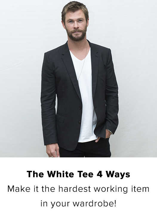 THE WHITE TEE 4 WAYS