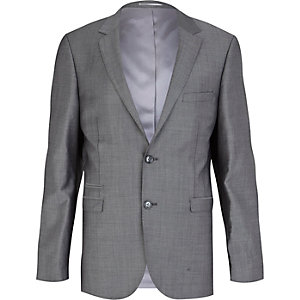 Grey suit blazer