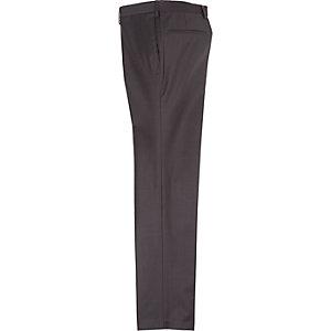 Dark brown slim suit pants