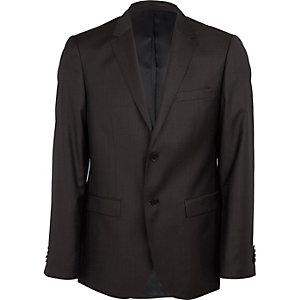 Veste de costume marron foncé nouvelle coupe classique
