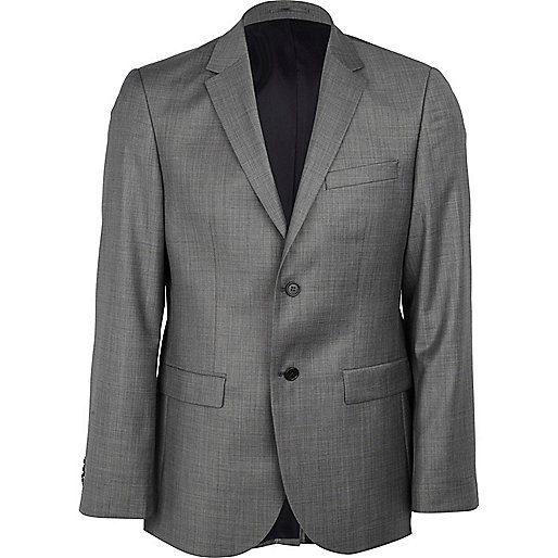 Grey new classic fit suit jacket