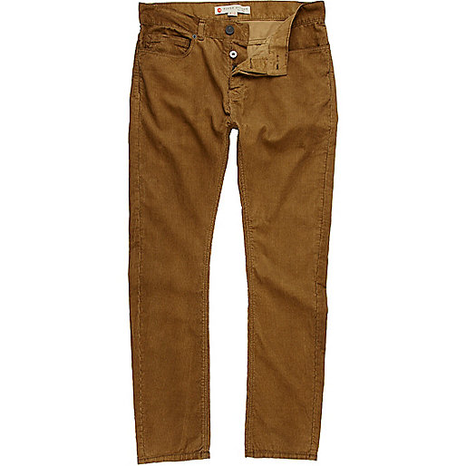 Tobacco brown corduroy trousers - trousers - sale - men