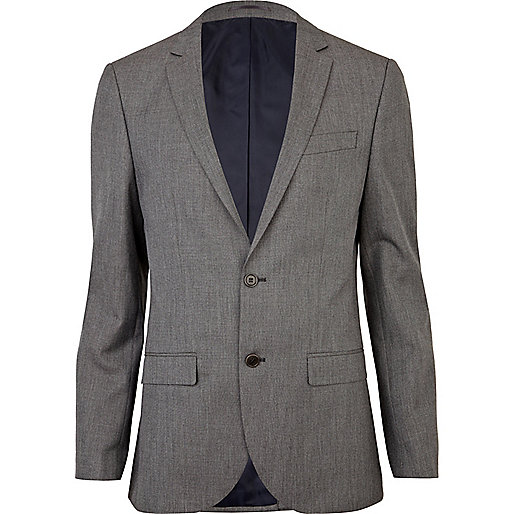 Grey slim suit jacket - suits - sale - men