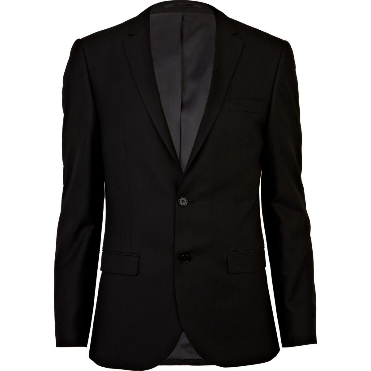 Schwarze schmale Anzugjacke
