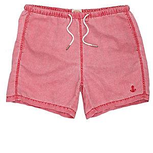 Red short swim shorts