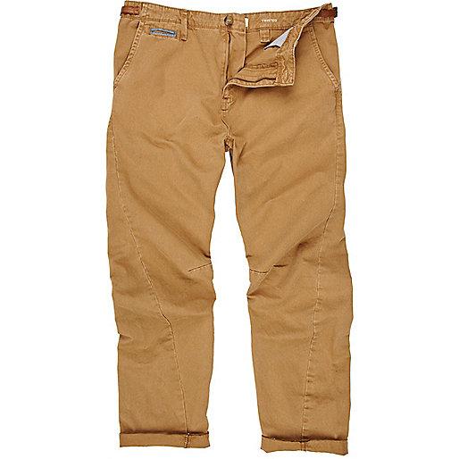 Brown twist seam pants