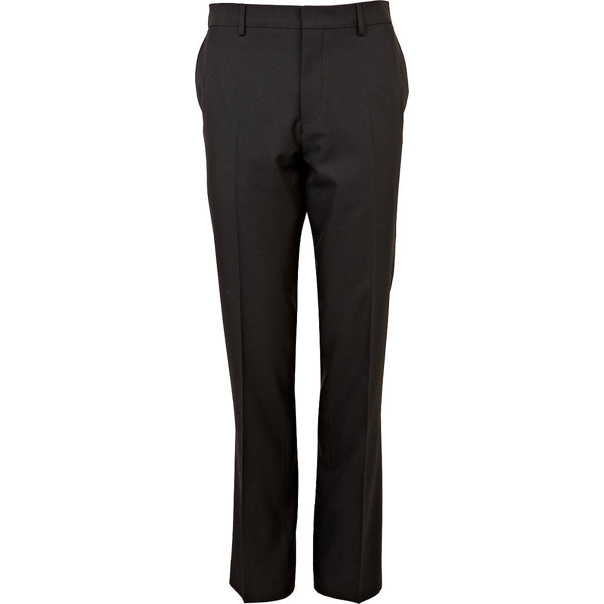 Black slim suit pants