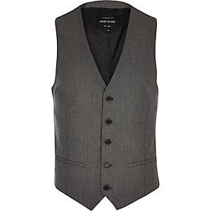 Grey slim vest