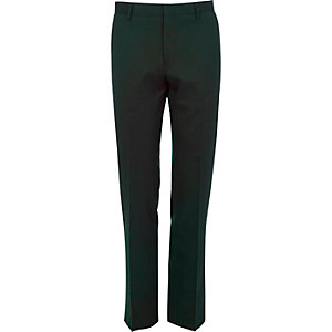 Green suit pants