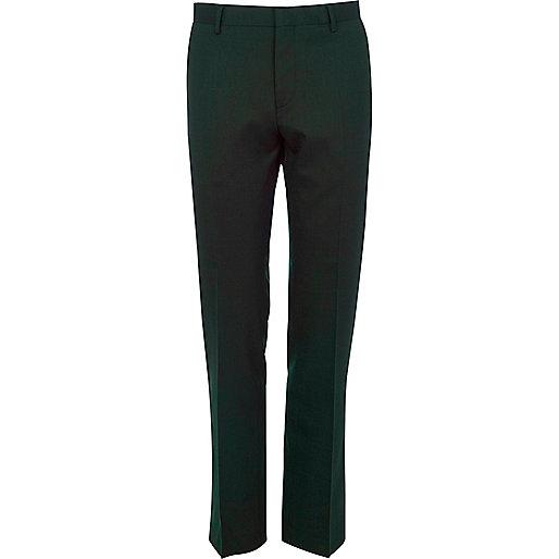 Green suit pants