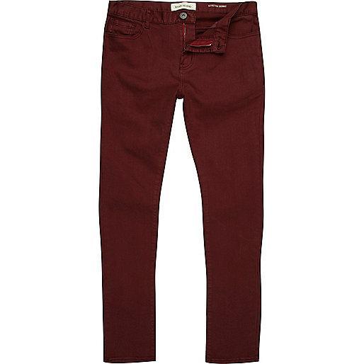 Red berry Sid stretch skinny jeans