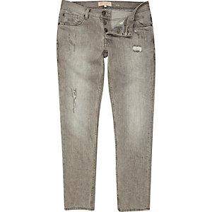 Grey distress Dylan slim jeans