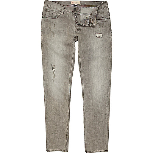 Grey distress Dylan slim jeans