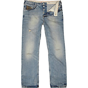 Light wash Dean straight jeans
