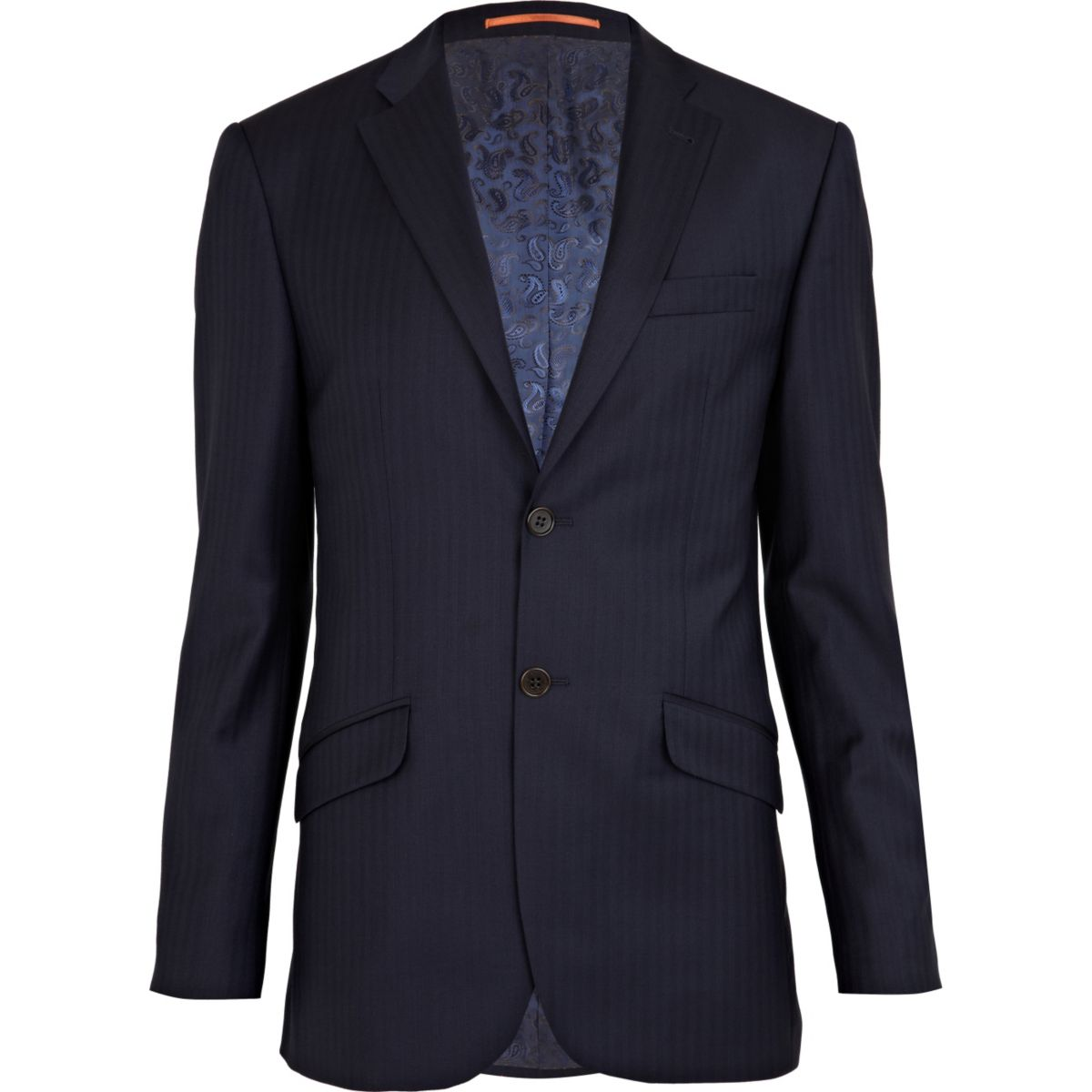 Navy herringbone Life Of Tailor suit jacket