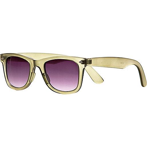 Green retro sunglasses