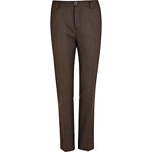 Pantalon de costume Holloway Road marron