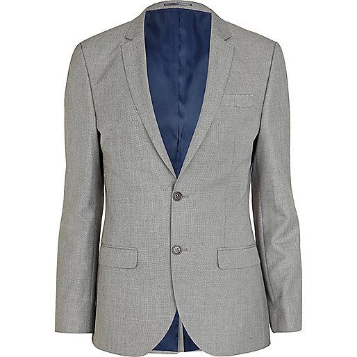 Grey slim suit jacket - suits - sale - men