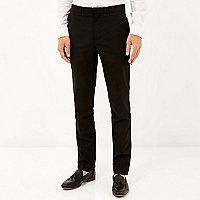 Black classic smart skinny fit trousers