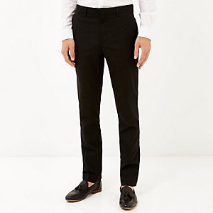Black classic smart skinny fit trousers