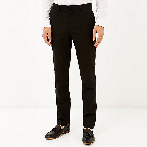 Black classic smart skinny fit trousers - smart trousers