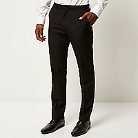 Black classic smart slim fit trousers