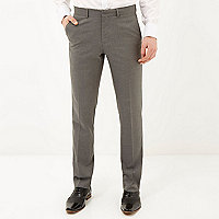 Grey classic smart slim fit trousers