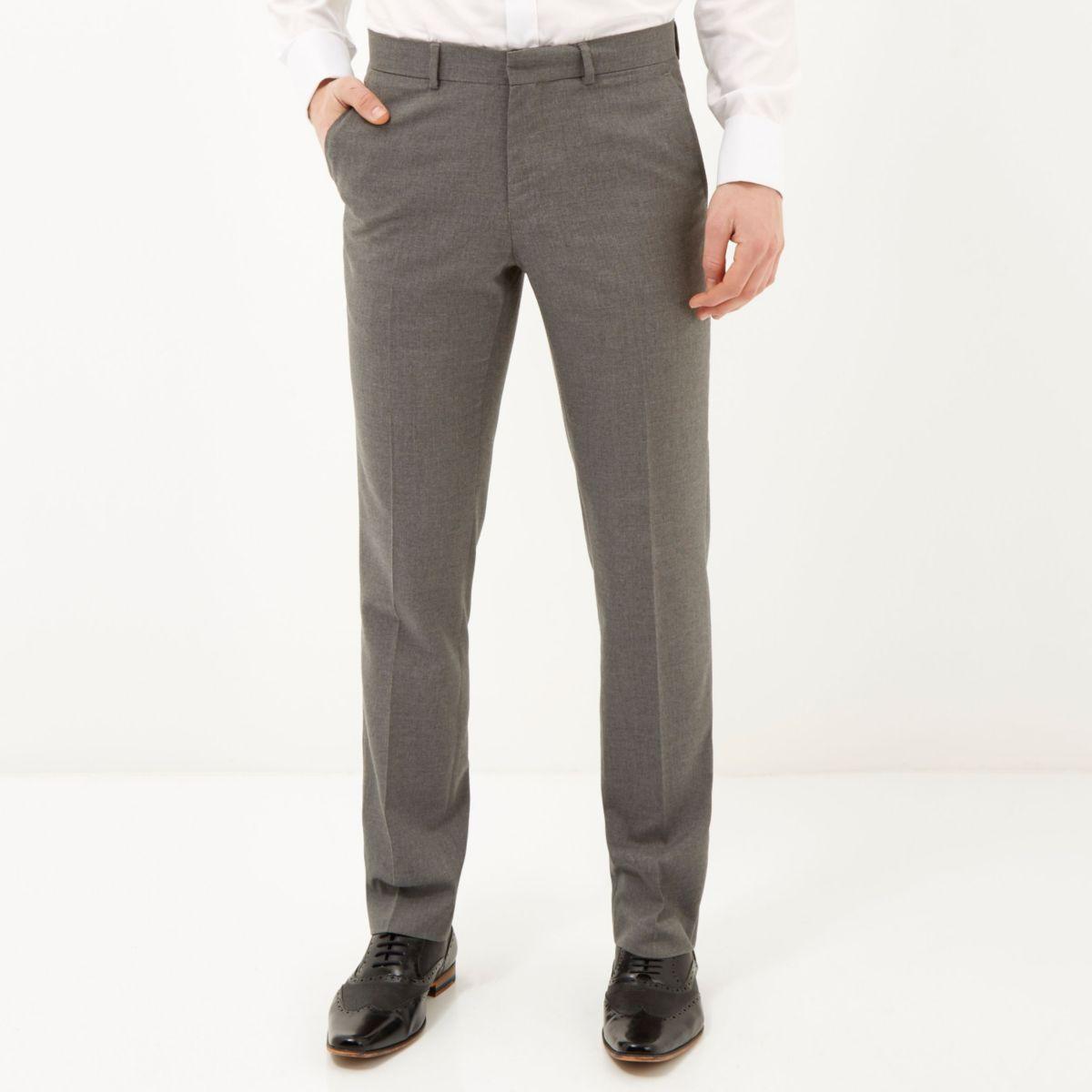 Elegante, schmale Hose in Grau