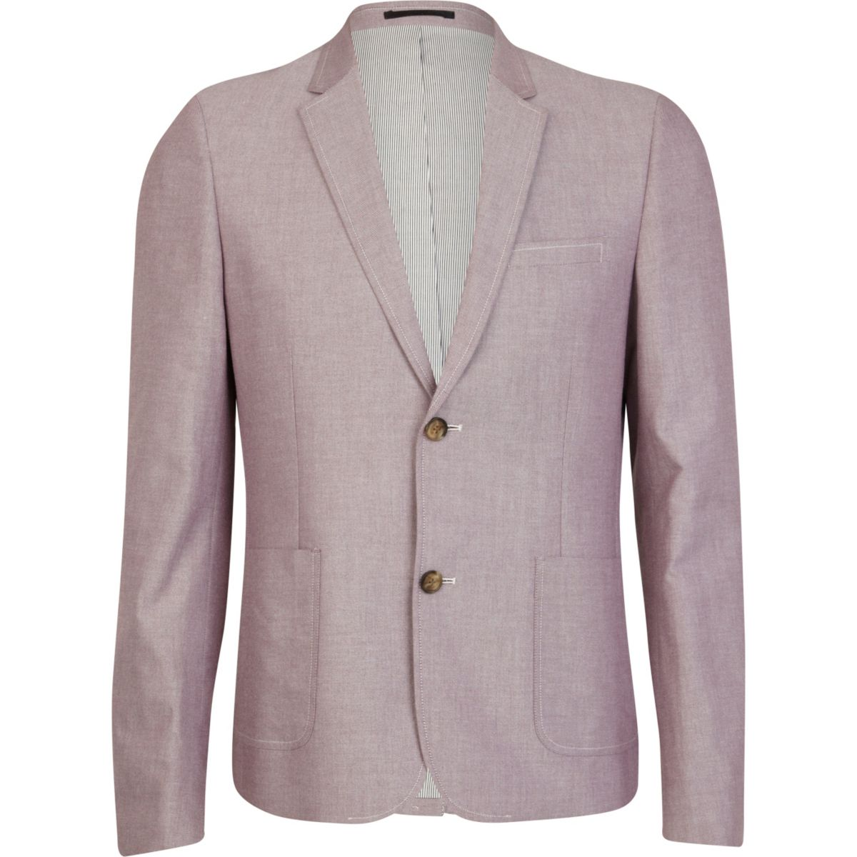 Light pink double button oxford blazer