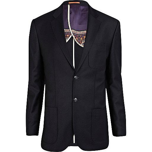 Navy Life of Tailor flannel blazer