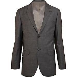 Veste de costume grise habillée coupe classique
