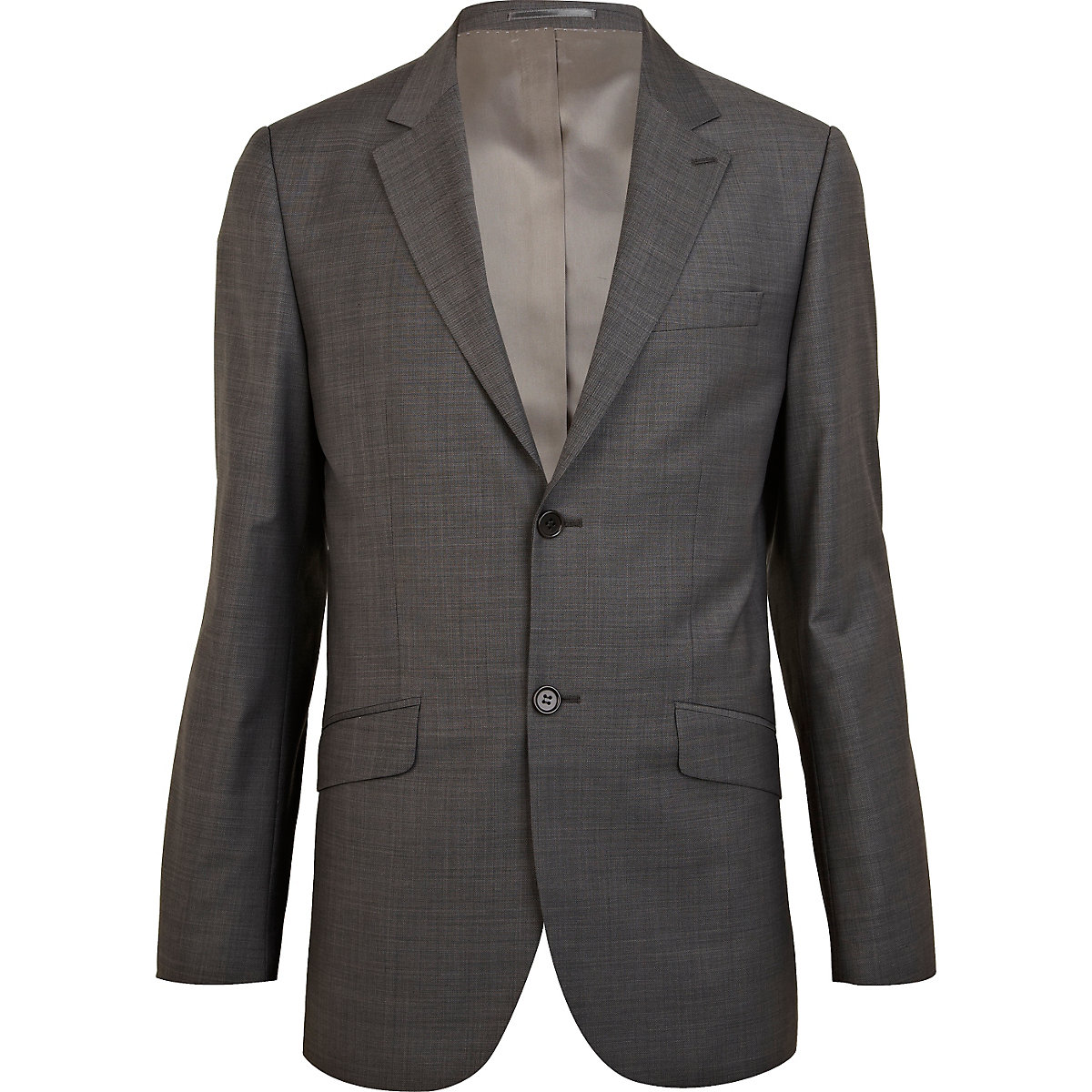 Grey classic fit smart suit jacket
