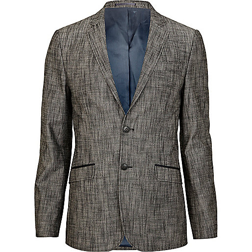 Black cross hatch smart blazer