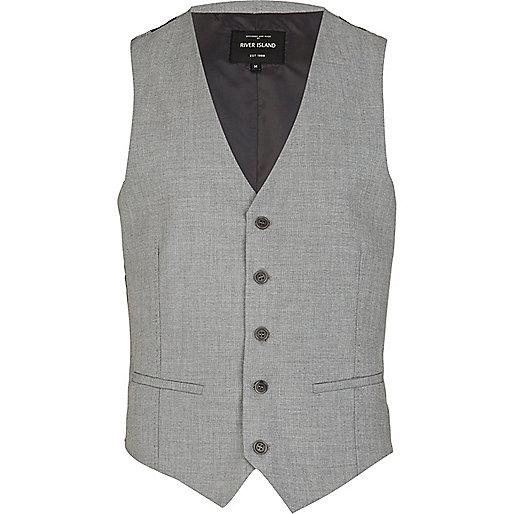Grey classic smart vest