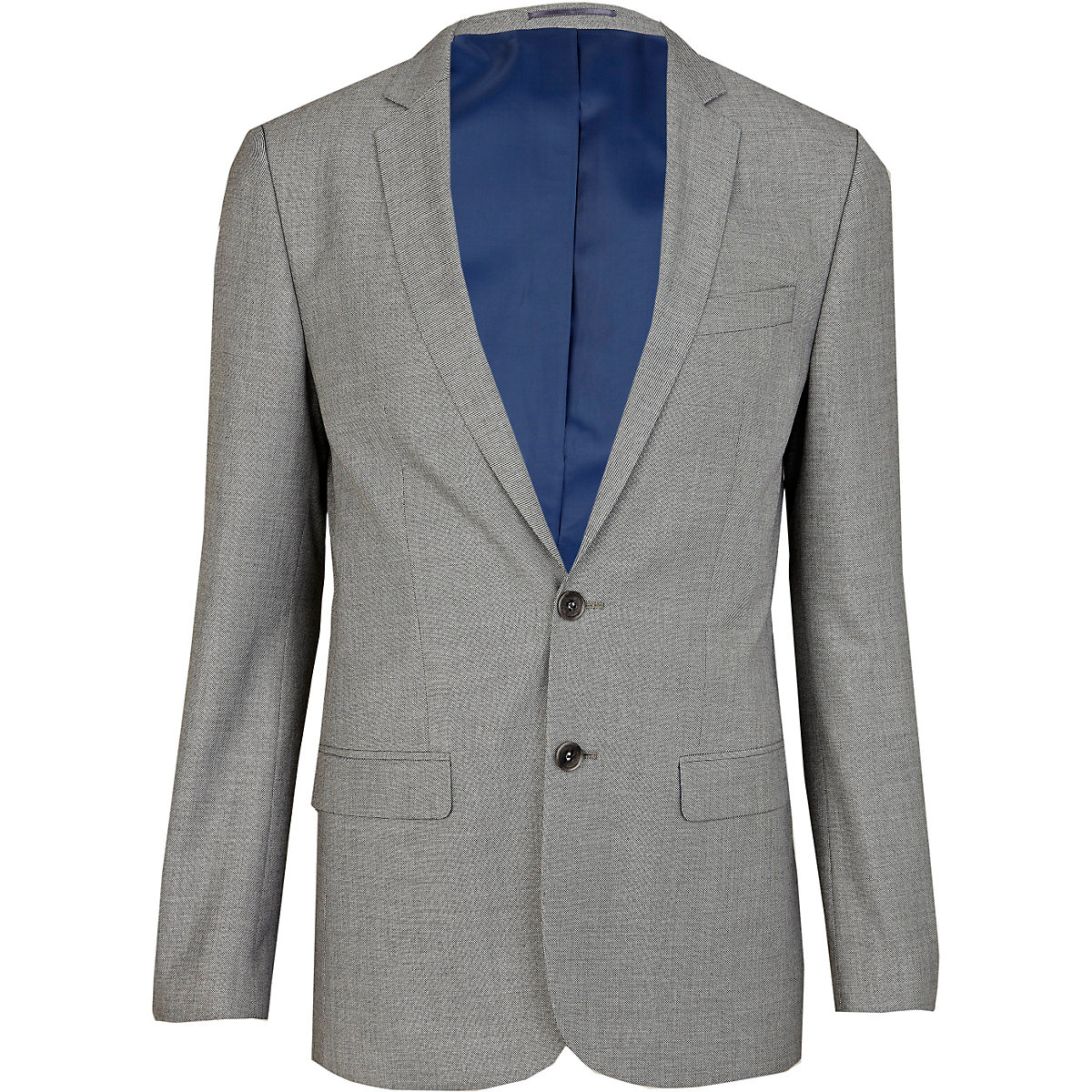 Light grey skinny suit jacket