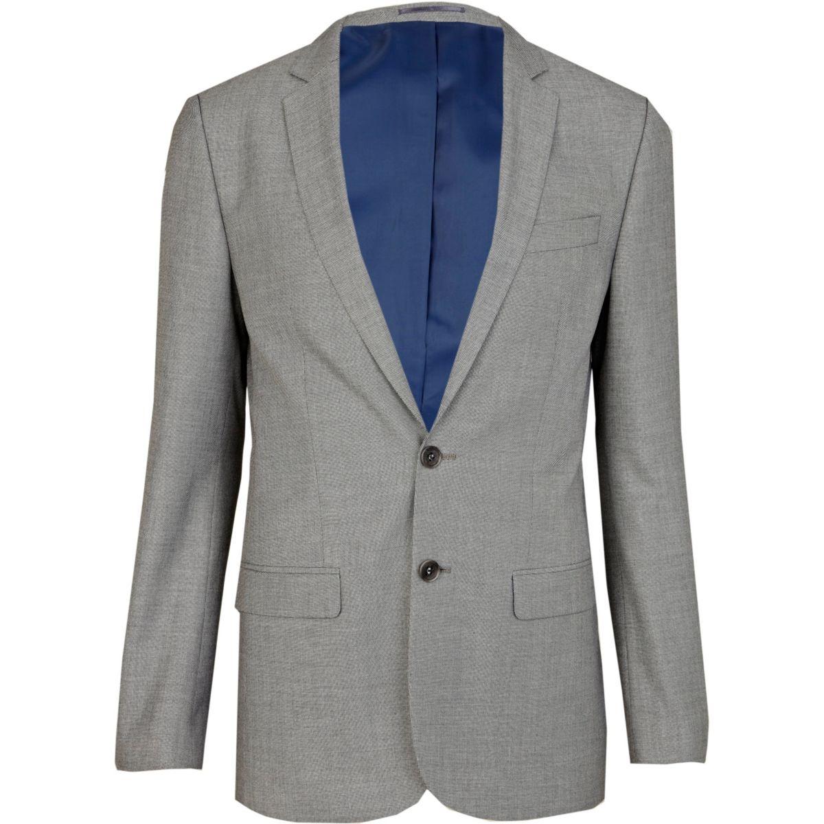 Light grey skinny suit jacket